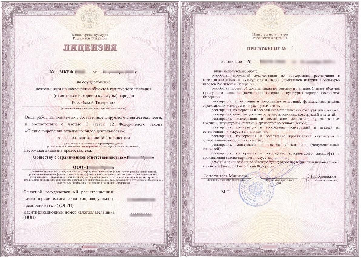 лицензия мк образец