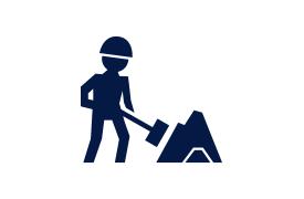 Подготовительные работы на стройплощадке